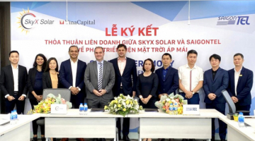 SIGNING CEREMONY FOR JOINT VENTURE AGREEMENT BETWEEN SKYX SOLAR AND SAIGONTEL FOR ROOFTOP SOLAR POWER DEVELOPMENT