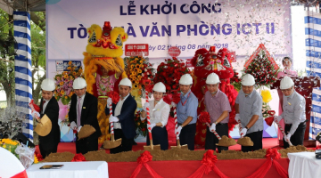 SAIGONTEL officially started building the ICT TOWER II